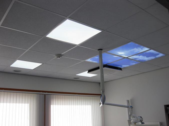 Fotoplafond met wolkenlucht